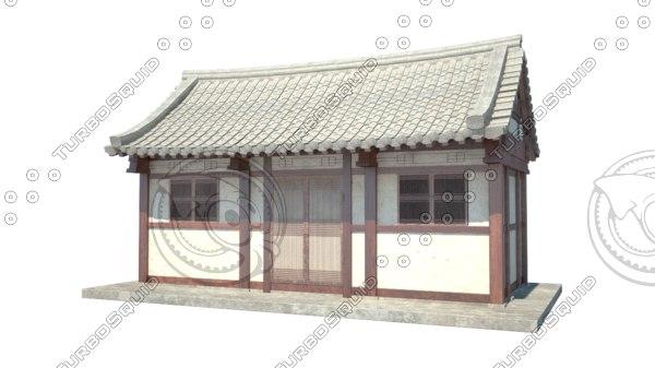 3d model of korean-style house