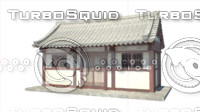 3d model of korean-style house