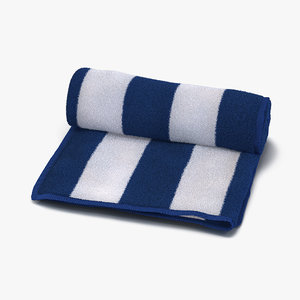3d beach towel white