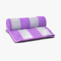 3d max beach towel pink