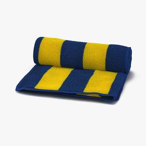 beach towel yellow 3d max