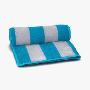 3d model beach towel
