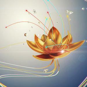3d model flower open animation