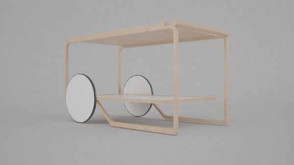 3d model bauhaus furniture interior