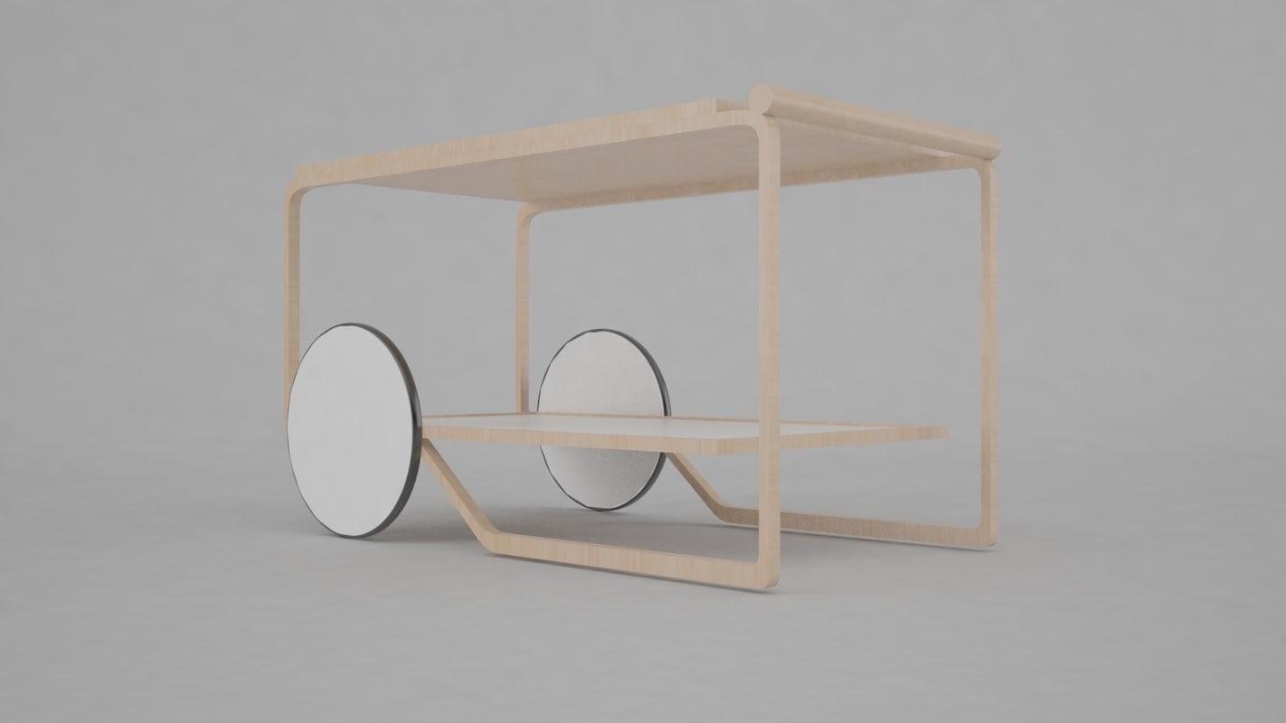 3d model bauhaus furniture interior