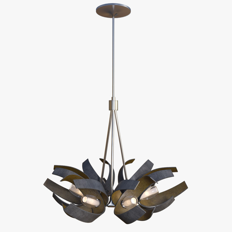 3d model hubbardton pendant light corona