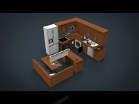 3d model pack kitchen