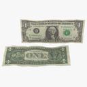 one dollar bill 3D models