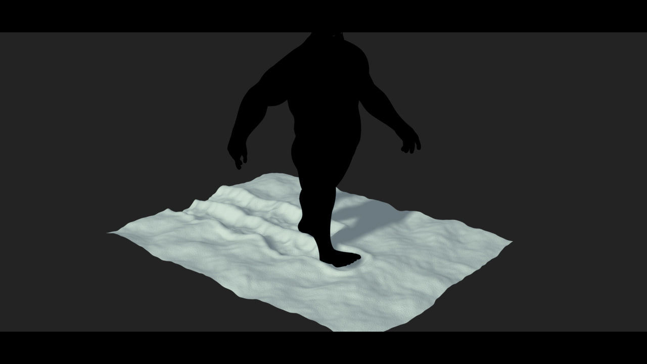 3d snow footprint model