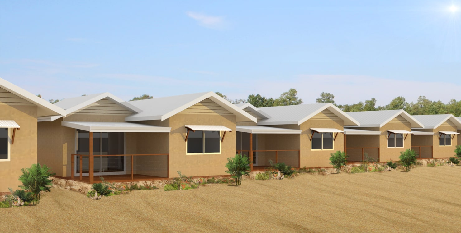 village houses 3d model