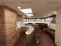 3d interior board model