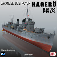 japanese destroyer kagero 3ds