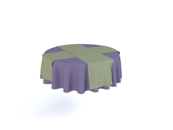 tablecloths table variants 3d model