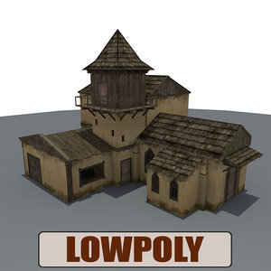 3ds medieval house buildings