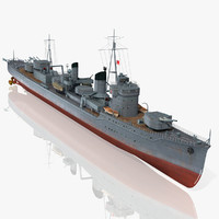 3d japanese destroyer kagero model