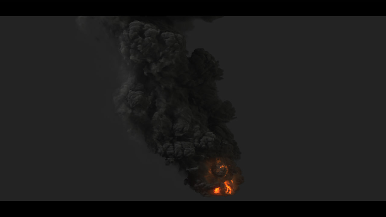 large scale smoke 3d model