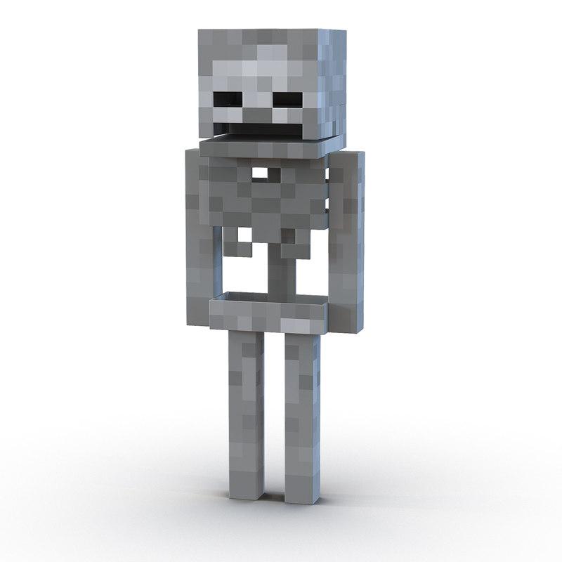 3d model minecraft skeleton