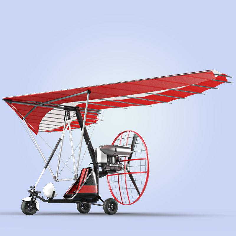 Quads For Sale >> motor trike hang glider 3d c4d