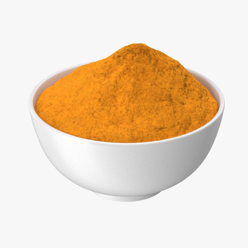 spices white pepper 3d model