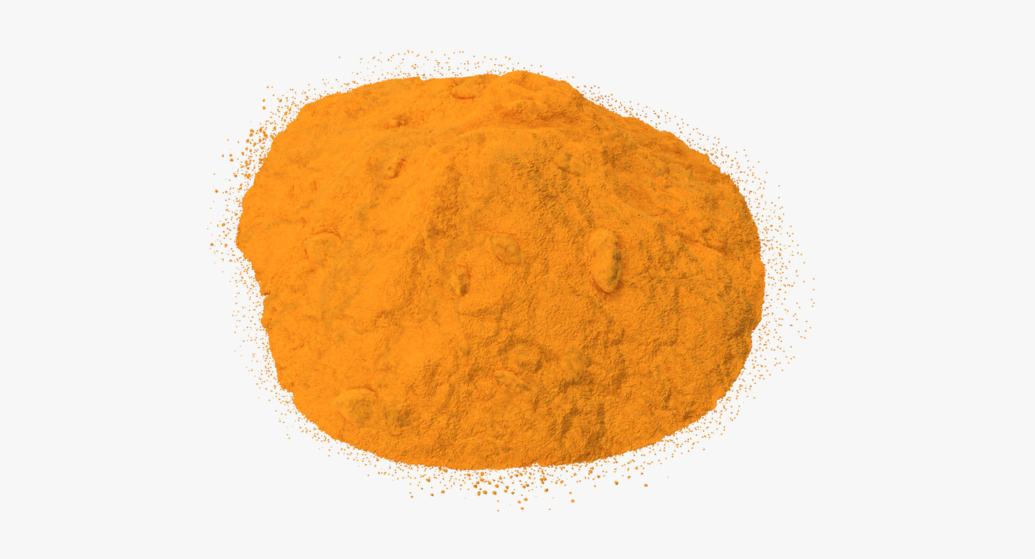3d powdered turmeric model