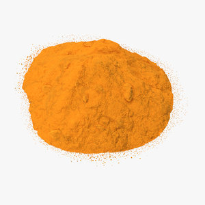 3d powdered turmeric model