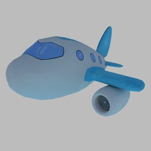 3d model cartoon airplane games