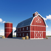 3d model farm stack realistic