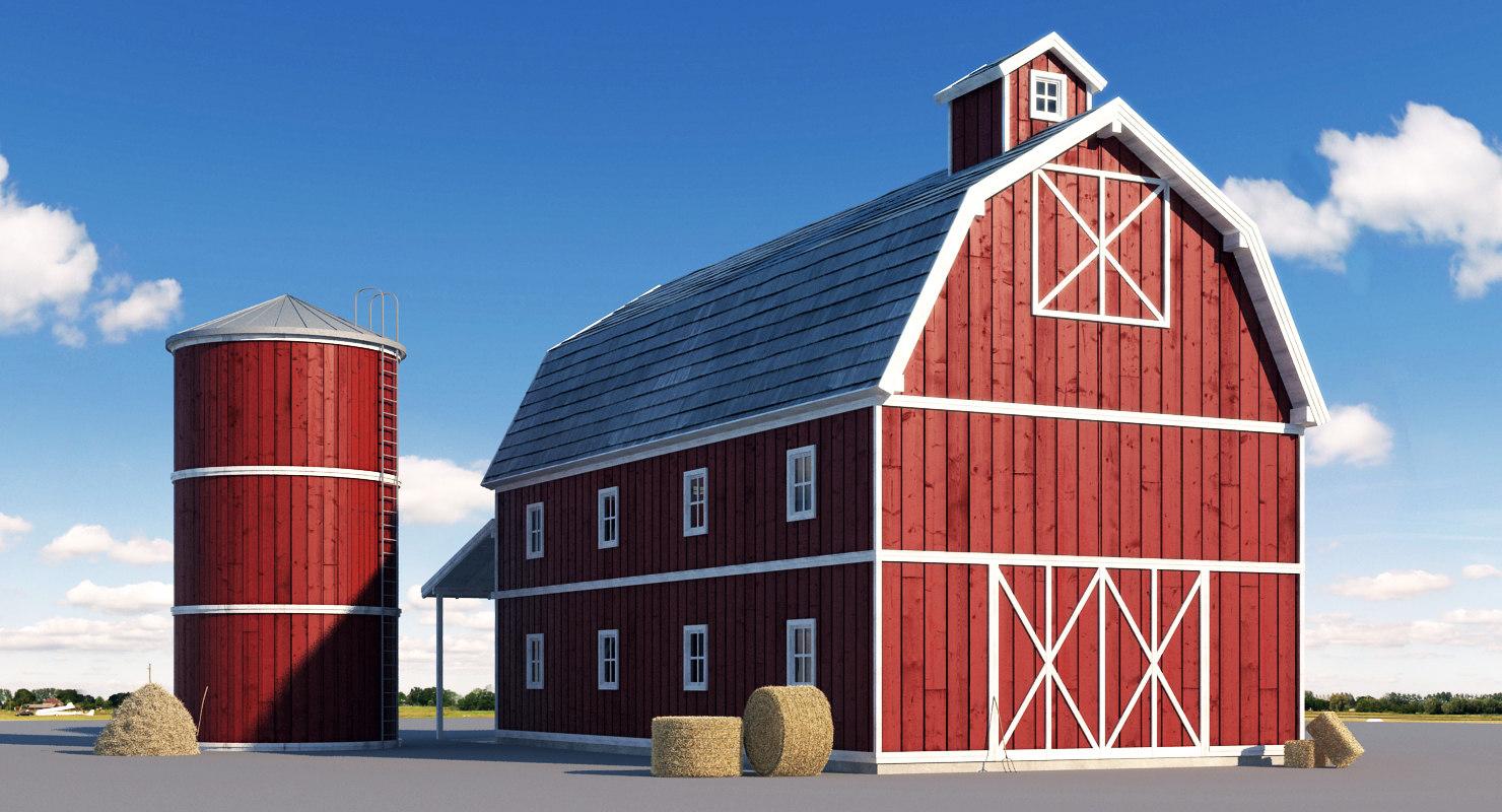 3d model farm stack realistic
