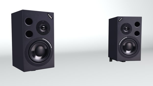 3d wall alesis speakers model