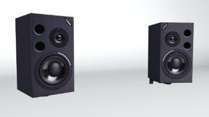3d wall alesis speakers model