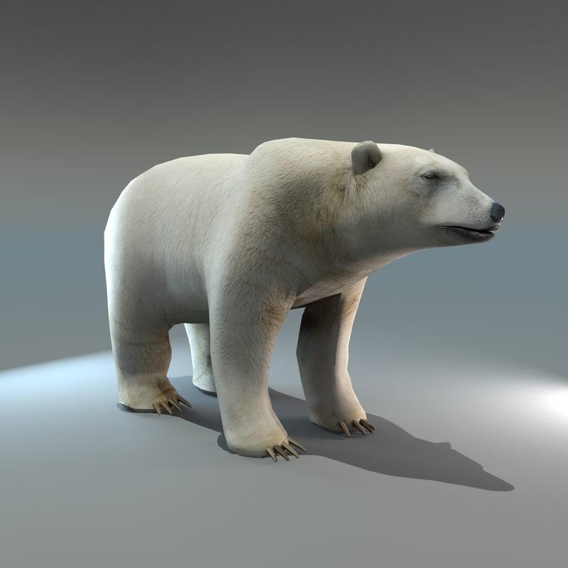 polar bear 3d max