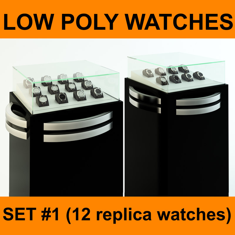 replica watches set 12 3d 3ds