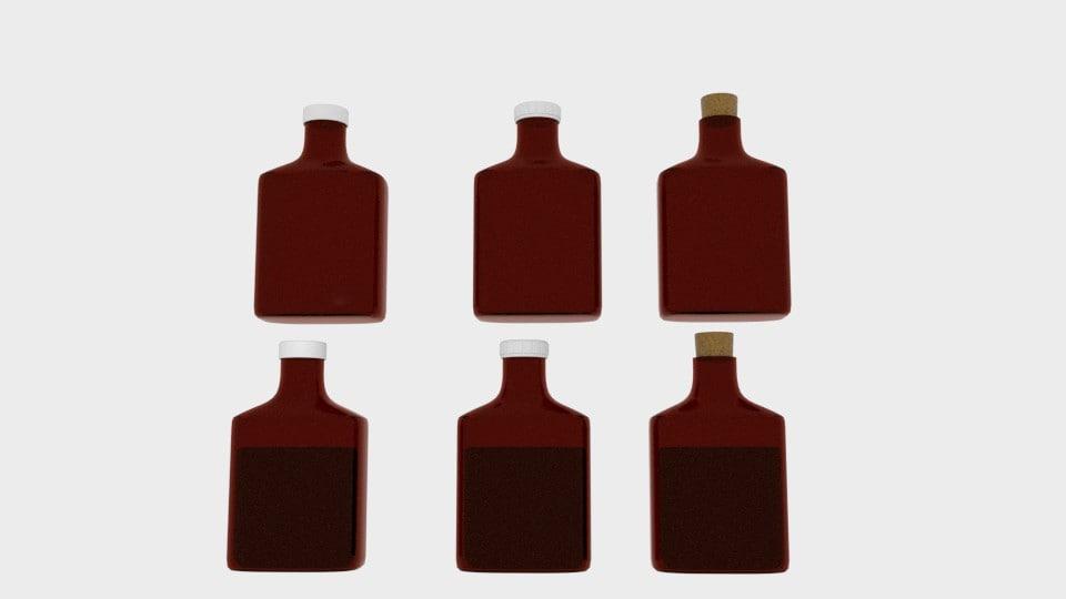 3d poison liquid bottle