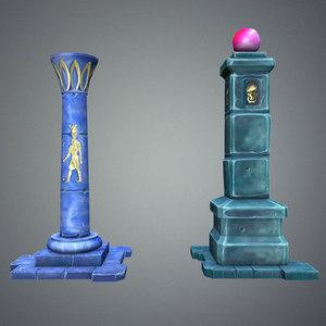 3d model fantasy pillar