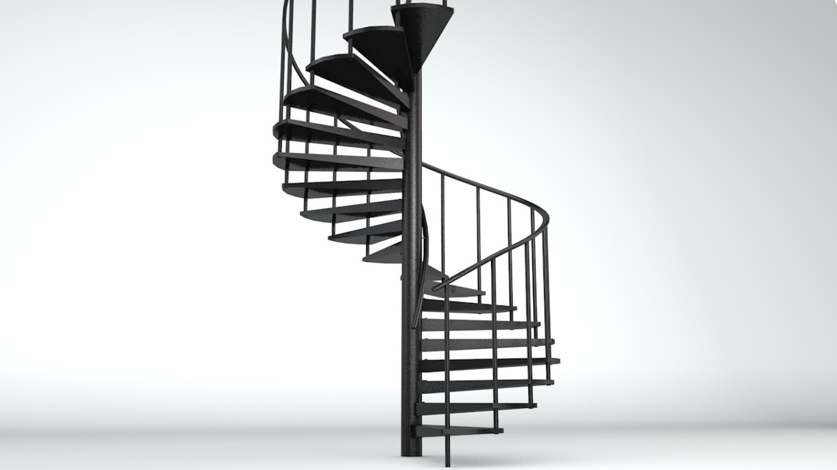 3d spiralling staircase