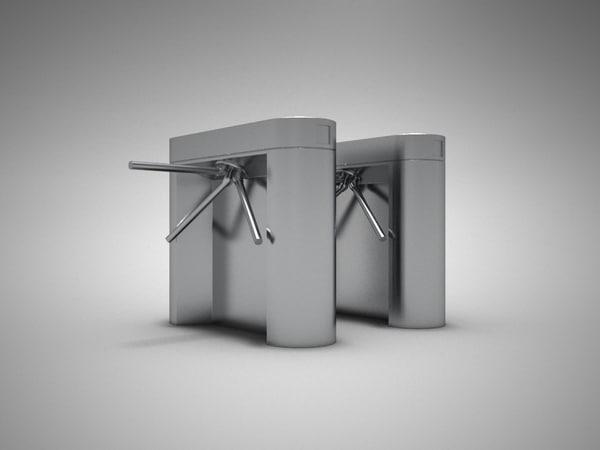 stile turnstile 3d model