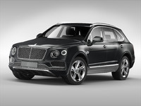 3d model bentley bentayga 2017