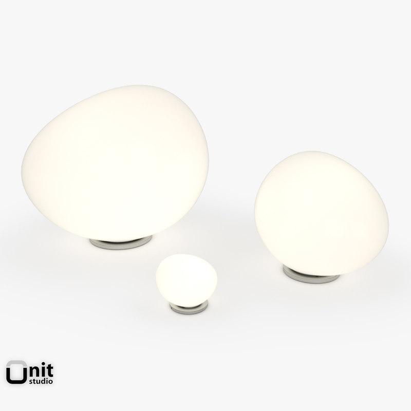 3d 3 table lamp foscarini model