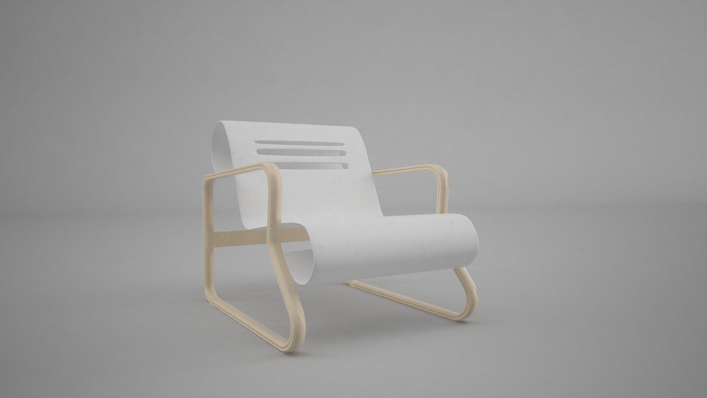 bauhaus chair paimio 3d model