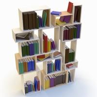 3d model book bookshelf