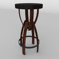 3d modern table lamp model