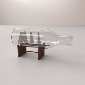 3d ship bottle model