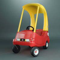 cozy coupe 3d obj