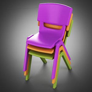postura ergonomic armchair 3d max