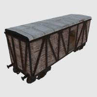 train wagon cargo 3d 3ds