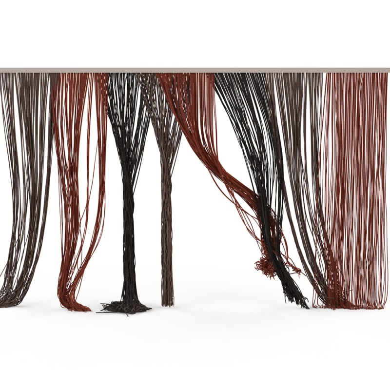 3d model curtains rope s