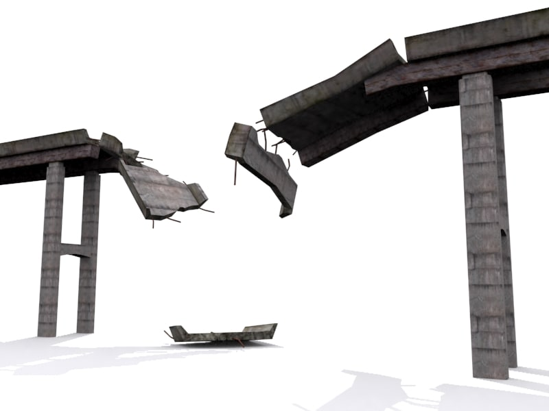 destroyed bridge 3ds