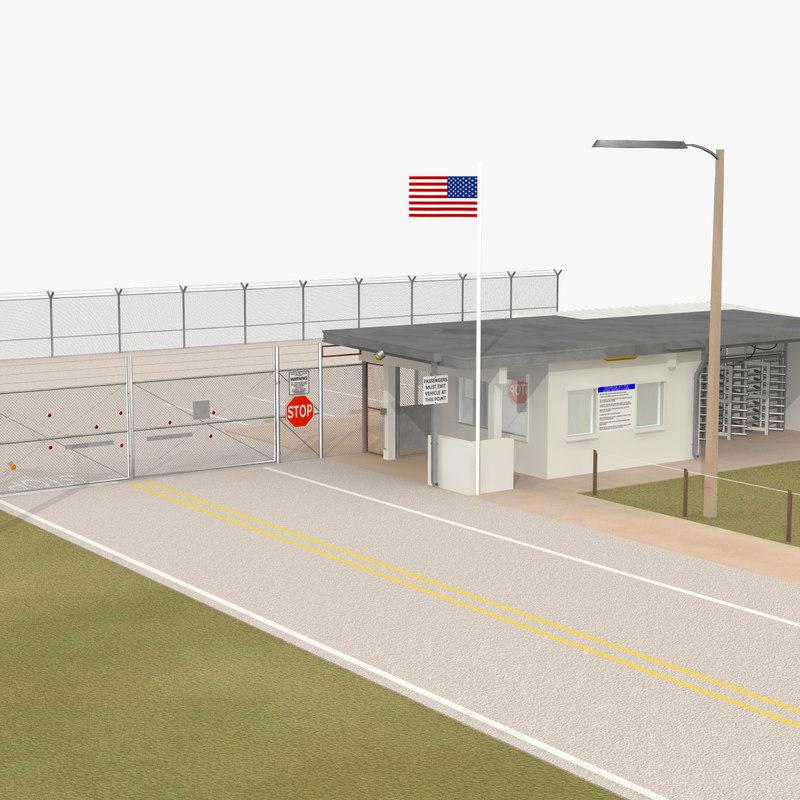 3d fbx gatehouse gates