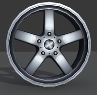 light alloy rim - 3d model