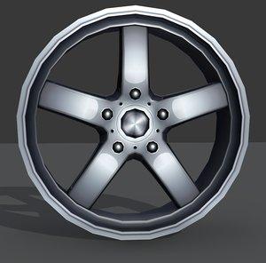 light alloy rim - 3d model